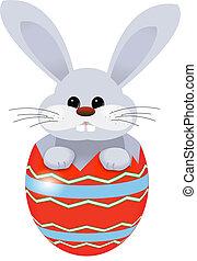 uovo di pasqua, coniglietto