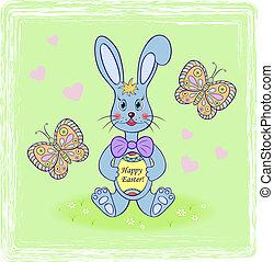 uovo di pasqua, coniglio