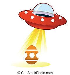uovo di pasqua, ufo, bottone
