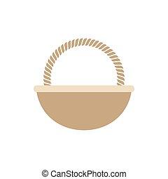 uovo di pasqua, vuoto, cesto