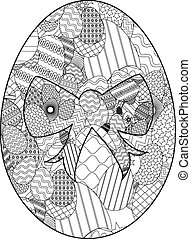 uovo di pasqua, zentangle