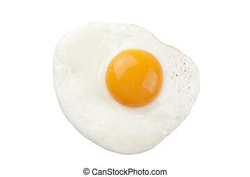 uovo fritto, isolato