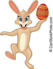 uovo, pasqua, coniglietto