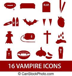 upír, ikona, dát, eps10