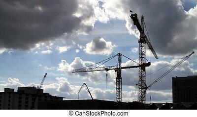 upływ czasu, żuraw, zbudowanie
