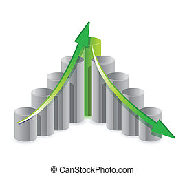 up and down business graph concept