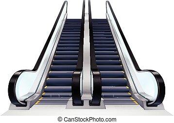 Up And Down Escalators Set - Two up and down escalators set...