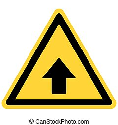 Up arrow and danger sign