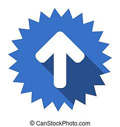 up arrow blue flat icon