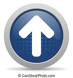 up arrow blue glossy web icon