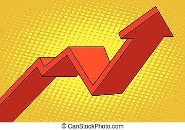 up arrow chart sales