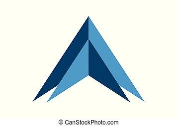 up arrow concept logo vector