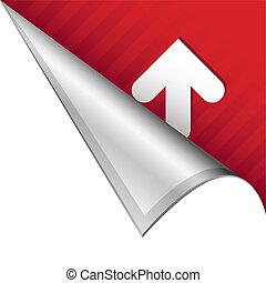 Up arrow corner tab