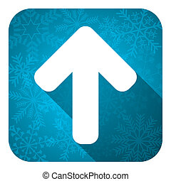up arrow flat icon, christmas button, arrow sign
