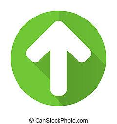 up arrow green flat icon arrow sign