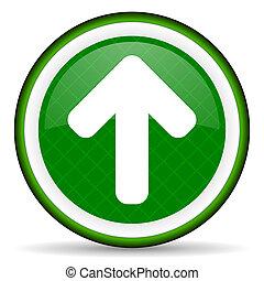 up arrow green icon arrow sign