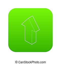 Up arrow icon green