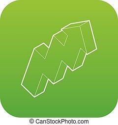 Up arrow icon green vector