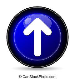 Up arrow icon. Internet button on white background.