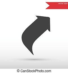 Up arrow icon. Vector illustration design element. Flat style de