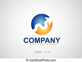 Up arrow logo design, branding design for financial business