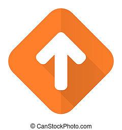up arrow orange flat icon arrow sign