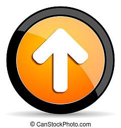 up arrow orange icon