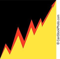 Up Arrow stylized German flag