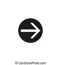 Up arrow vector icon. Button icon white background.