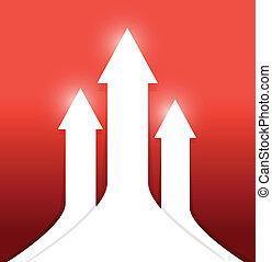 up arrows illustration design