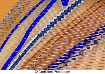 up), ausstellung, (close, großartig, inneneinrichtung, klavier, bezug, struktur