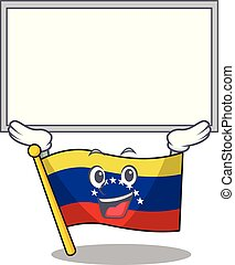 Up board flag venezuela with the cartoon shape