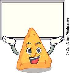 Up board nachos character cartoon style