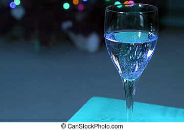 Up Close on a Wine Glass