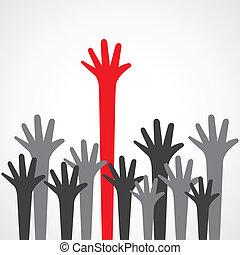 up hand