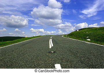 Up the Hill and Round the Bend. - Up hill mountain road from...