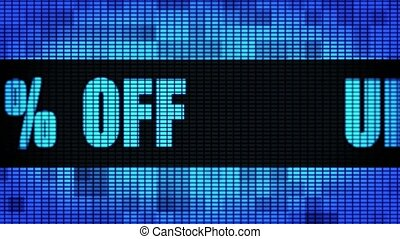 Up To 25% Percent Off Front Text Scrolling LED Wall Pannel...