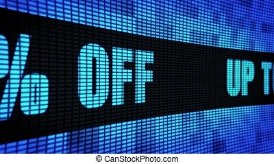 Up To 30% Percent Off Side Text Scrolling LED Wall Pannel...