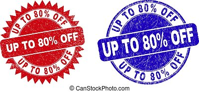 UP TO 80% OFF Round and Rosette Stamp Seals with Unclean Texture