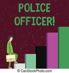 up., vynucení, kontrolovat, zamyšlený, text, showing, mužstvo, obchodník, firma, officer., čas, carrying, důstojník, manifestovat, fotografie, pojmový, šplhání, právo, vyjádření, aktovka