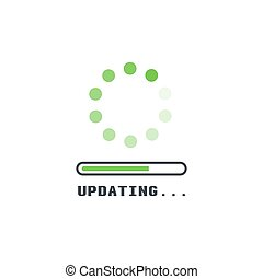 Upadting line icon