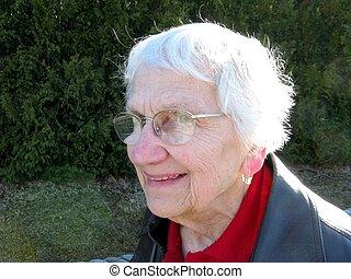 upbeat outdoor senior citizen