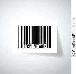 upc., barcode, rede, ilustração, social