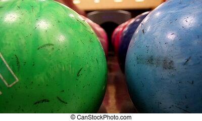 Upclose image of bowling ball