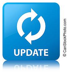 Update cyan blue square button