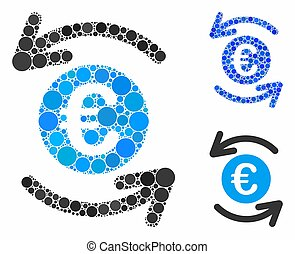 Update Euro balance Mosaic Icon of Circles