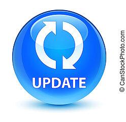Update glassy cyan blue round button
