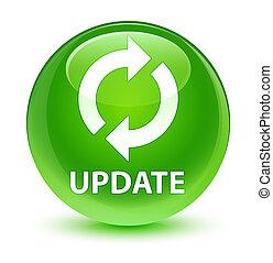 Update glassy green round button