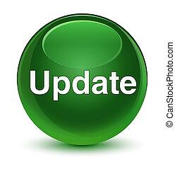 Update glassy soft green round button
