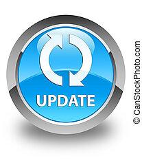 Update glossy cyan blue round button